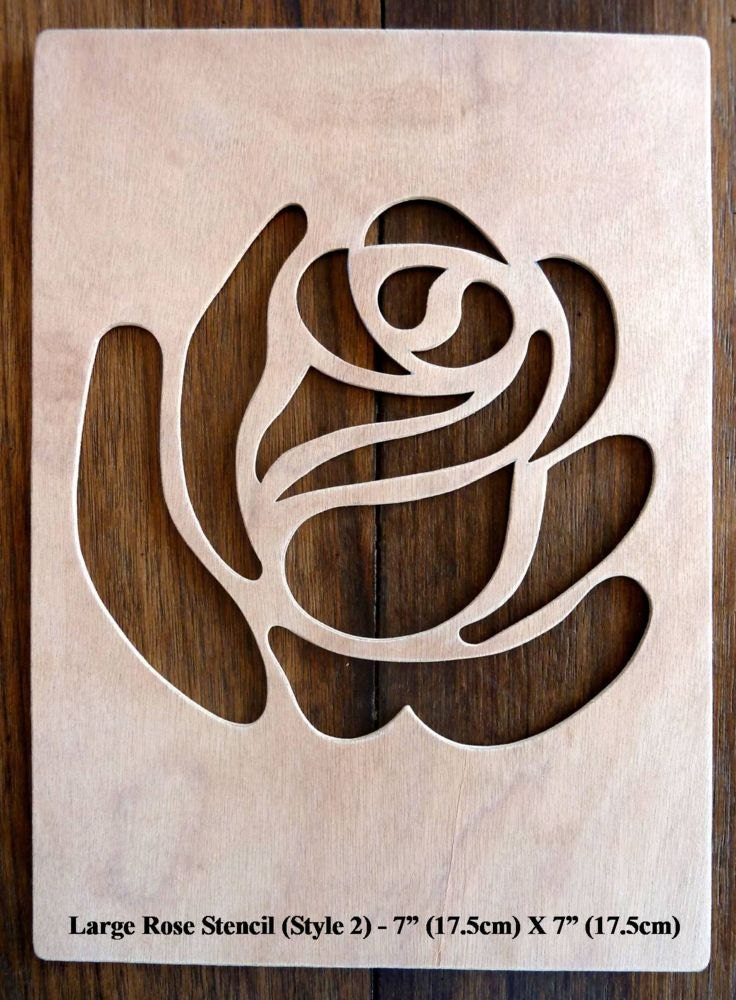 Rose Stencil And Cut - CUP700829_671 | Craftsuprint |Rose Cut Out