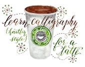 Printable Calligraphy Worksheets : Kaitlin Style {Learn Calligraphy!}