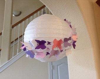 "10"" vanilla berry, paper lantern, wedding lantern, princess room decor, butterfly decor, butterfly party, butterfly birthday, nursery decor"