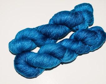 Kanata BFL/Silk/Cashmere 438 yard Hand-Dyed Fingering Yarn in Nightfall