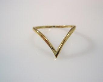 v stacking ring, v ring,delicate ring,v shaped ring ,v ring gold filled 14k ring
