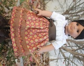 American Girl Camisa and Skirt in Red and Orange Diamonds