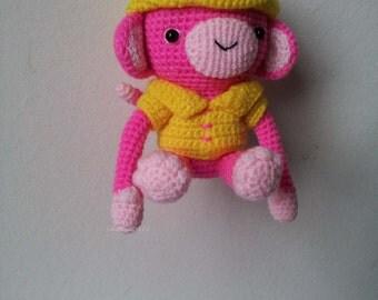 Monkey crochet  Key Chain/ backpack zipper pull,christmas gift,birthday gift!