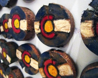 Colorado Magnets made by local Colorado Artist: Julie Cole