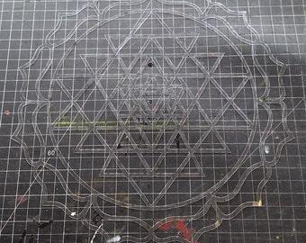 Sri Yantra Stencil - Sacred Geometry