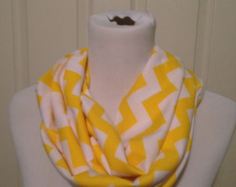 Yellow chevron scarf- available in infinity and regular!