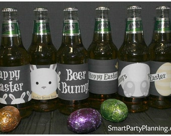Easter Beer Labels - Smart Party Planning