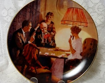 Norman Rockwell Wall Plate This is the Room that Light Made E Knowles 1983 Vtg