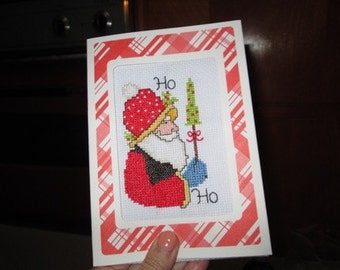 Santa Cross-Stitch Greeting Cards
