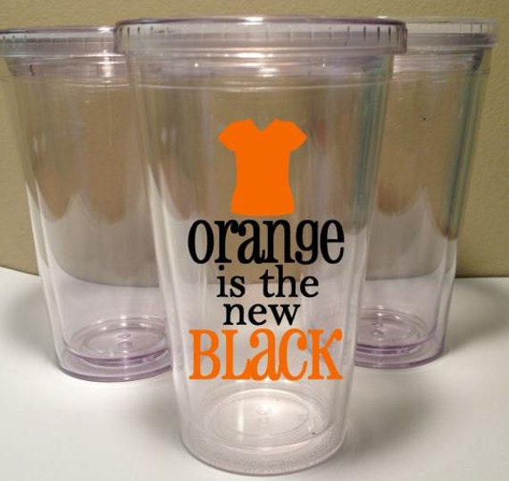 Orange is the New Black Inspired 16 oz Tumbler with straw