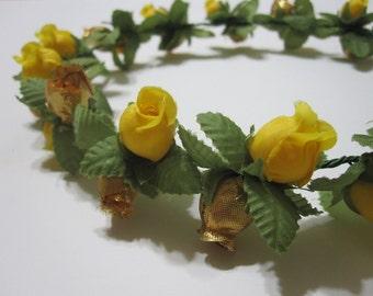 MISAKI (XXIII) Yellow and Gold Floral Headband