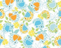 Baby Birds Collection Pastel Blue, Green, Orange, Studio e Fabric  (By 1/2 yd)
