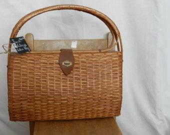 FINAL CLEARANCE SALE - French Vintage Rattan Handbag