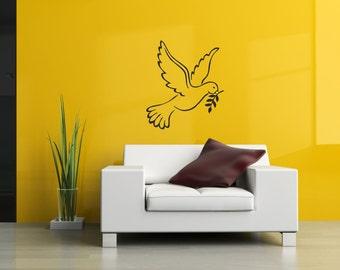 Dove / wall art vinyl decal sticker.