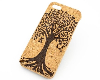 C-115 Cork Case For Apple Iphone 4/4S Tree Of Life
