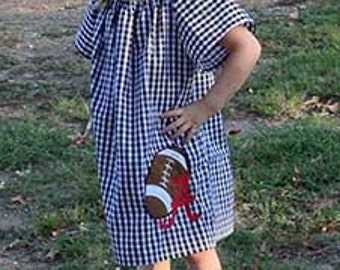 Houndstooth Alabama Football Applique dress 9-12months to 5t