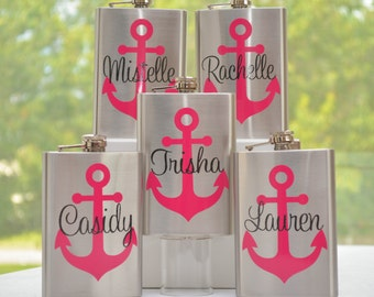 Personalized Anchor Flask