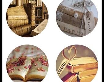 Vintage Books - Digital Download Sheets - Digital Sheets - Books - 30mm Pendants - 30mm Pendant Images - Digital Images - DDP499