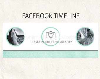 FACEBOOK banner mint Facebook timeline psd template - fully editable