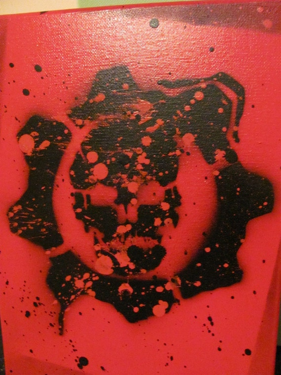 Gears Of War Spray Paint Stencil