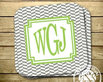 Personalized Coasters - Set of 4 - Monogrammed
