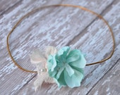 Mint halo- girls halo-Photo prop-boutique couture-spring and summer girls accessories-mint flower