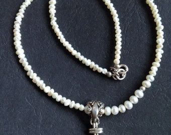 Vintage Pearl & Sterling Necklace