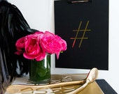 Hashtag Print  |  Gold