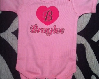 personalized baby girl one piece, personalized baby girl shower. personalized baby girl gift, personalized baby girl bodysuit