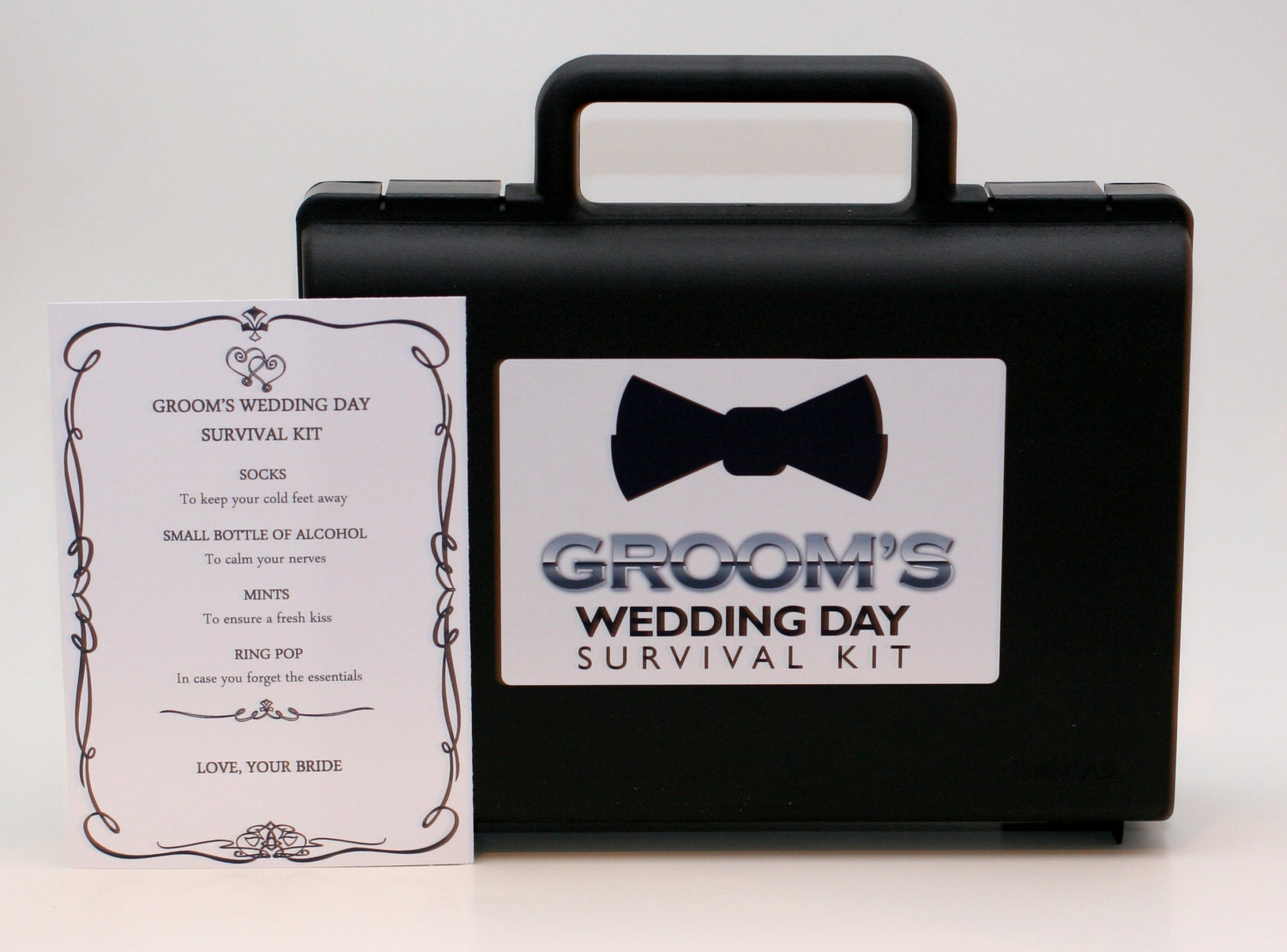 DIY Grooms Wedding Day Emergency Survival Kit Amp Card