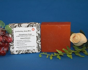 Skin Lightening Soap: Glutathione Soap w/ Alpha Lipoic Acid and Alpha Arbutin