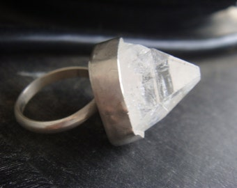 One of a Kind Apophyllite Crystal Pyramid Ring