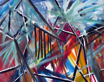 """garbage heap - blue - July 2013 Oil on canvas 30"""" x 36"""""""