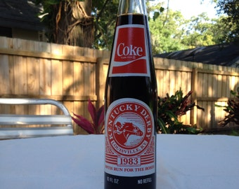 Vintage Coca-Cola 1983 Kentucky Derby Commemorative Bottle
