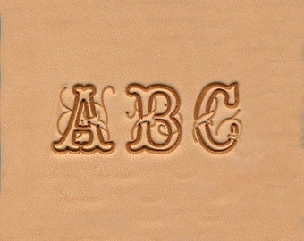ABC Alphabet Leather Stamp Set 19mm -  26 Tools + Handle