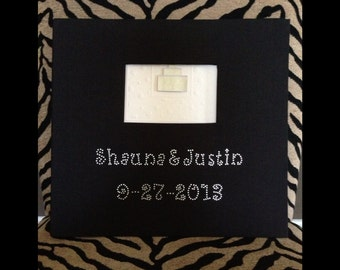 Rhinestone customized photo album