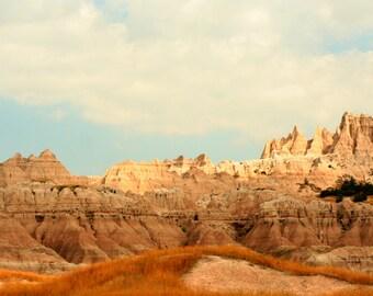 The Badlands of South Dakota.