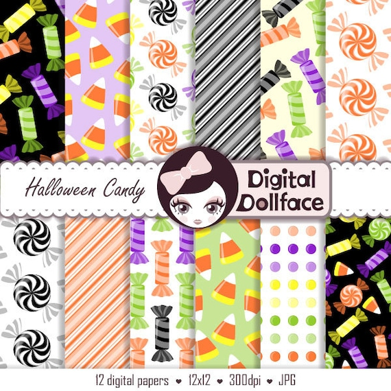 Items similar to Halloween Scrapbook Paper Pack, Digital ...