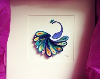 """Quilled Paper Art: """"I'm like a bird"""""""
