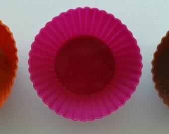 Silicone Cupcake Mold 6 Pieces