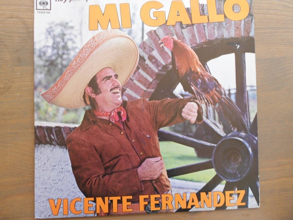 Vicente Fernandez Hoy Platique Con Mi Gallo Vinyl Record