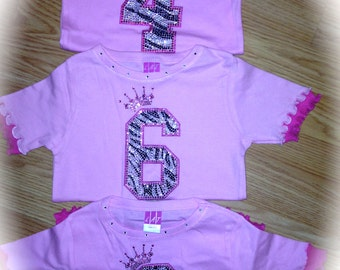 Number Birthday Shirt. Girl's Number B-Day Shirt. Number Birthday Top. Toddler Number Shirt. Girl's Number Shirt. Girl's Birthday T-shirt.