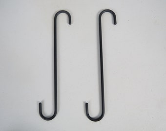 2 - 12 Inch Wrought Iron S Hooks
