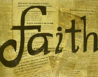 Antique Faith Collage 16 x 20