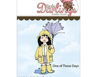One of Those Days (Little Darling Stamps) - unmounted rubber stamp by Little Darlings Rubber Stamps