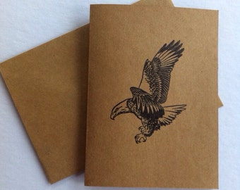 7 eagle blank note cards and envelopes. All ocassion cards. Inspirational note cards.  Bird cards.