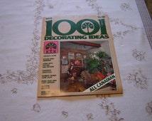 Vintage 1001 Decorating Ideas magazine September 1977 VGC (159J)
