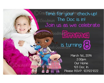 Doc McStuffins Invitations DIY Printable (D07)