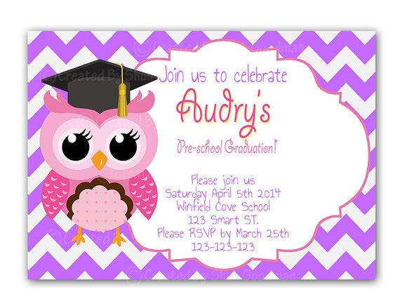 free printable preschool graduation invitations owl graduation invitations diy printable preschool by 570