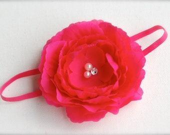 Clara headband - Hot pink